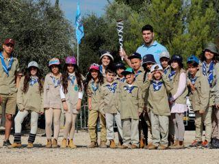Education Department - Torch Relay - maccabiah torchh with orii sason-