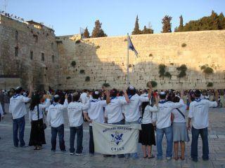 Education Department - Maccabi Tzair Worldwide - maccabi tzair olami in the kotel-