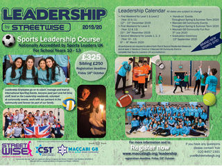 leadership flyer 2019.20 - Streetwise Leadership programme - Maccabi GB