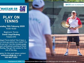 maccabi bg play on tennis event - Maccabi GB Play On Programme Tennis Event for over 60's