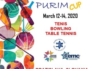 purim cap 2020 - 19th European Maccabi Purim Cup - Tennis, Bowling & Table Tennis