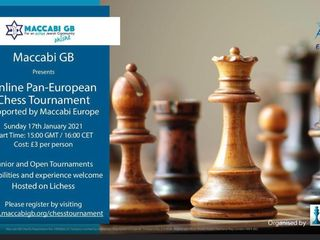 online pan european chess tournament maccabi gb maccabi europe