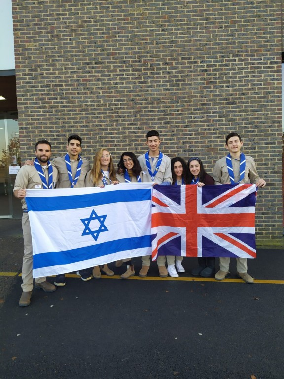maccabi gb torch relay delegation 2019 - Maccabi World Union Torch Relay