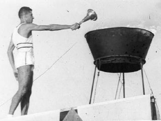 Archive & Museum - About Maccabi Museum - past maccabiah torch lighting-